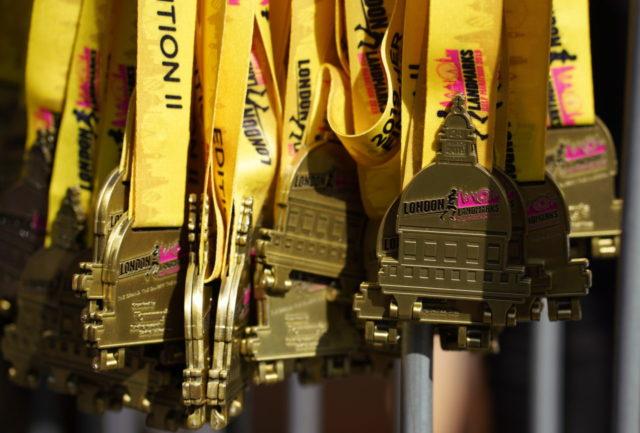 Médaille du London Half Marathon.