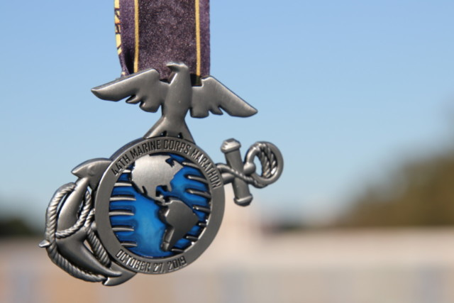 Médaille du 44th Marine Corps Marathon de Washington.