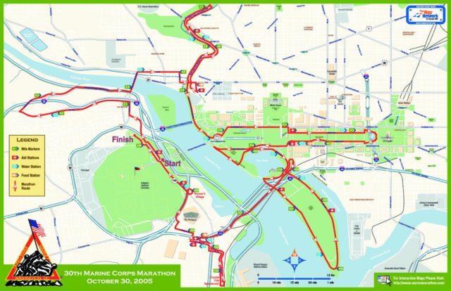 Parcours du marathon de Washington.